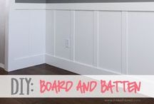 DIY for the HOME / Detailed how-to's for house projects like crown molding, board and batten, etc.