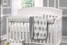 Gray and White Nursery  / White and gray is a great starting point for any nursery. Start with baby bedding from Liz and Roo and the possibilities are endless. You'll love your nursery from Liz and Roo!!
