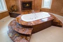Marble and granite at bathroom