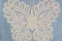 Crochet 花・葉っぱ・蝶