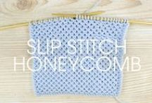 Knit Stitch Patterns / A collection of unique knit stitch patterns and diagrams.