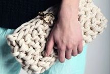Knit Accessories / Knitted scarves, cowls, fingerless glpves, mitts, hats, and jewelry.