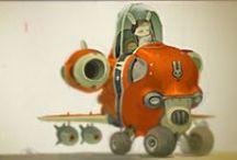 Machines / Spaceships, robots, cars, ...