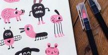 Doodle Inspirationen / eine Menge toller Kunstwerke, die zum Zeichnen inspirieren