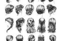 dessin cheveux / dessin cheveux
