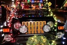 Christmas Jeeps / Jeep people like to do Jeep things.... like decorate their Jeeps. Check out this gallery of Christmas Jeeps!