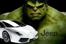 """Jeep Wrangler vs Lamborghini Gallardo / This is what it looks like when a Lamborghini Gallardo rear-ends a Jeep Wrangler. It was Joey Giardello vs the Phillie Phanatic in this unnecessary match-up of strength and durability. For reasons unknown, these two collided with such force leaving the Jeep to ask itself - """"was that a mosquito?"""""""