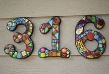 Mosaics with glass
