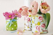 DIY Spring/Easter decorations / Flowers, eggs, rabbits... and everything remind us that spring has arrived!