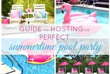 Pool Parties / Pool party ideas, decor, food, beverages.
