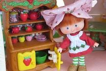 Berry Happy Home Dollhouse / The Berry Happy Home dollhouse was made in 1983 for Strawberry Shortcake and her friends to live. There were furniture sets for each room, each one had a strawberry theme and lots of cute little details.