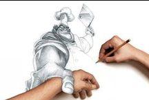 Скетчи, зарисовки, рисунки, рисование / разнообразные зарисовки, скетчи, мини уроки по рисованию карандашом и т.п.