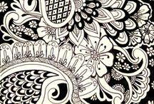 Zentangle/Doodles / Tekeningen, krabbeltjes