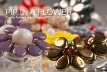Pip™ gyöngy minták, ötletek és hozzávalók / A Pip™ gyöngyöknek kis szirom formája van, de nem csak virág készíthető belőle, hanem számtalan felhasználási lehetőségre van mód. Hozzávalók itt:  http://www.gyongyvasar.hu/cseh-preciosa-pip-gyongy