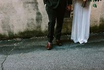 vita klänningar & brudbuketter