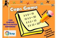 """Multiplication & Division (M) / These activities that look similar may have slightly different directions, some easier for students than others. To link directly to the pictured activity, login to the KNP (Kentucky Numeracy Project) first and then click the picture. To receive login instructions, please register on the KNP website (copy and paste into your browser: http://knp.kentuckymathematics.org/#!/page_register or search """"Kentucky Numeracy Project)"""