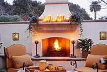 Fire outdoors / outdoor fireplaces