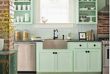 Pastell 50s' / Kitchen inspiration, 50s and lots more. Love pastell colors!