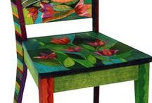 Painted chairs / chairs