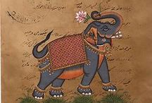indian elephant and animals