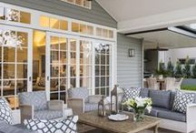 HOME | Patios and Porches / Houston fashion and style blogger, Haute and Humid shares a curated board of patio and porch decor ideas.