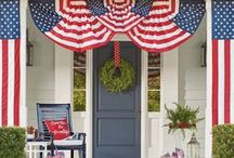 HOLIDAYS | Red White and Blue / Houston fashion and style blogger, Haute and Humid shares a curated board of red, white, and blue decor, crafts, activities, and more.