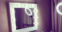 Makeup Mirrors / Makeup ● Makeup Mirrors ● For Girls ● Interior inspiration ● Inspiracja ● Inspiration ●