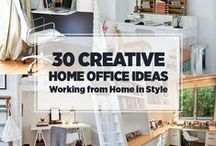 Home Office Ideas / Work at home office space ideas, organization, design, decor, and DIY. Tips, tricks, and inspiration. / by Lisa | Cook Eat Paleo