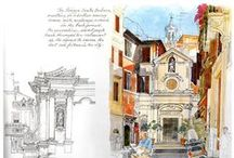 Travel Sketch / See how travels are captured beautifully in artworks.