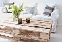 DIY   Palets / Montones de ideas sobre todo lo que puedes hacer con palets y madera reciclada.