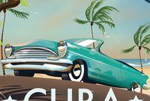 Affiches pays / Les vieilles affiches pour faire la promotion des pays, des compagnies aériennes de l'époque. Un moyen de voyager dans le temps.