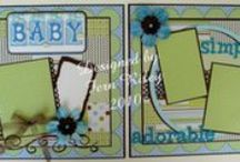 CRAFTS Scrapbooking layouts BABY/Chidren / by Judy G