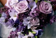 Wedding bouquets - blue,&lilac