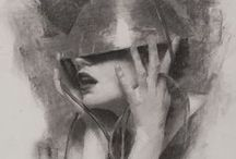 figurative drawing / drawings, sketches