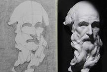 drawing lessons / perspective, still life, portrait, anatomy