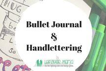 Bullet Journal und Handlettering / Diese selbstgemachten Journale faszinieren mich sehr. Vor allem, wenn sie mit ein paar tollen Stilen des Handlettering kombiniert sind.