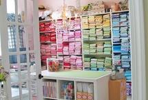 Мастерская ❁ Craft room / Комната для рукоделия, мастерская: декор, организация пространства, идеи для хранения. Craft room: decoration, organization, storage ideas.
