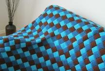 Тунисское вязание ❁ Tunisian crochet / Тунисское вязание, энтрелак крючком. Tunisian crochet, Tunisian entrelac.