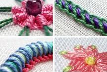 Вышивка, ручное шитьё ❁ Embroidery & hand sewing / Вышивка, вышивание, ручное шитьё, ручные швы, ручные стежки. Embroidery and hand sewing.