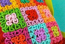 Вязание волнами ❁ Wiggly crochet / Объемное вязание волнами крючком. Wiggly crochet.