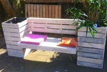 Wooden (outdoor) furniture / Furniture made from (drift)wood for that cozy warm weather life style