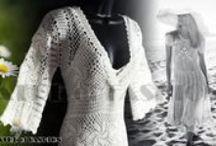 White crochet dress - Black crochet dress / Checkout Theatre of Fashion for beautiful vintage crochet The fashion revival of crochet http://www.theatreoffashion.com/blog/entry/white-crochet-dress-black-crochet-dress-1