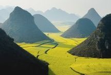 Chinese landscapes / Panorama of beautiful Chinese landscapes