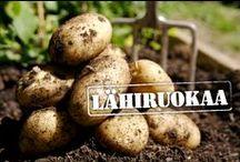 Lähiruokaa / Oman alueemme tuottajien kasviksia, vihanneksia ja jalostettuja tuotteita.