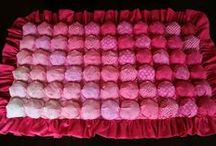 Квилт-пухлячок ❁ Bubble quilt / Объёмный квилт, квилт-пухлячок: мастер-класс по изготовлению, идеи использования техники объёмного квилта. Bubble quilt, puff quilt, bisquit quilt: tutorials, ideas, color combinations.