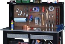 Hardware - Workbenches & Cabinets / These workbenches offer rugged all-steel construction and help you complete projects with ease while keeping your work area organized. Our pre-assembled and ready-to-assemble organization systems give you great storage options for your garage, office, laundry room, craft/hobby space, and more.