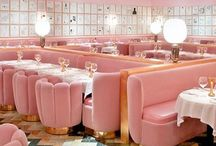 Pink Places | Coffee shops | Restaurants / Pink places around the world | hotels, coffee shops, restaurants, cute houses, walls, etc.
