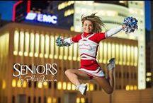 Cheerleaders / Cheerleader senior picture ideas for girls. Cheerleader senior pictures. Sports senior picture ideas for girls. Sports senior pictures.