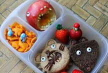 Literary Lunches / Bento lunches inspired by children's books  (created for The Little Crooked Cottage by Nina Holstead at Mamabelly's Lunches with Love)