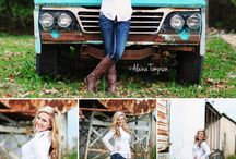 Truckers / Truck senior picture ideas for girls and guys. Senior pictures with trucks. Truck senior pictures.